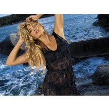 Plážové šaty GD-12 květina Etna černé