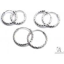 Aranys stříbrné náušnice kruhy 3114