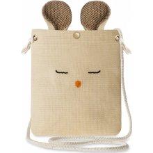 krásná dámská plátěná kabelka listonoška myška s oušky béžová 51955f9147c