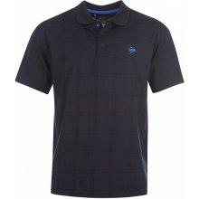Dunlop Check Golf Polo Shirt Mens Navy