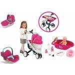 SMOBY 550192A-3 Maxi Cosi & Quinny 3v1 +bábika so šatôčkami 32 cm