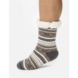 pánské teplé ponožky s norským vzorem - Béžovo-šedá - Calzanatta 962 ... c056bf34a3