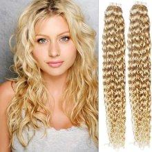 Kudrnaté vlasy pro metodu TapeX   Tape Hair   Tape IN 60cm nejsvětlejší  blond 2a9789cedb