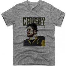 Pánské tričko 500 LEVEL Sketch Stare K NHL Pittsburgh Penguins Sidney  Crosby 87 šedé 735eea5b94