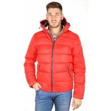 Tommy Hilfiger pánská červená péřová zimní bunda Basic