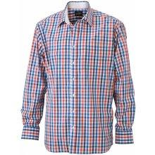 Pánské košile Pánská+kostkovaná+košile+-+červená 0be0b79345