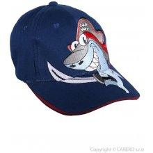 Letní dětská kšiltovka Žralok tmavě modrá - Yora-CZD-088-tm-mo/50/rekin