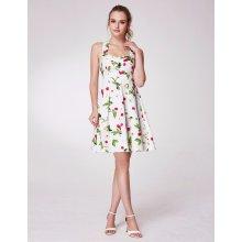 Alisa Pan letní šaty s třešněmi a srdíčkovým výstřihem bílá 893153d639