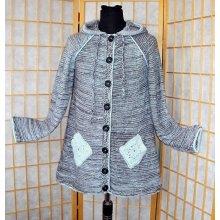 Kabátek kapucí šedý