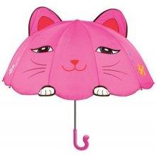 Blooming Brollies Dívčí deštník s kočičkou - růžový