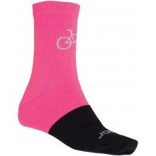 Sensor TOUR Merino wool ponožky růžová/černá