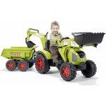 Falk Traktor Claas Axos šlapací s přední i zadní lžíc