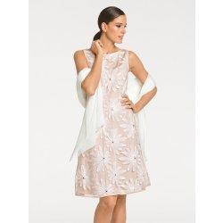 5b12f8c38d3 Ashley Brooke by heine úpletové šaty s flitry a kamínky tělová ...