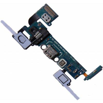 OEM Samsung Galaxy A5 2015 A500F micro USB nabíjecí port s tlačítky a audio konektorem