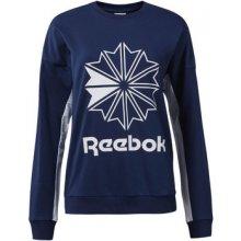 Reebok Classic French Terry Big Logo Crew Sweatshirt modrá 73d0b806e3