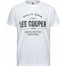 Lee Cooper Print T Shirt Mens White