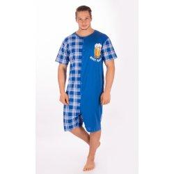 Pivo nejlepší přítel pánský overal krátký modrý pánské pyžamo ... d3e38ebd4a