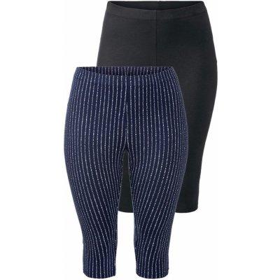 Esmara dámské capri legíny 2 kusy vzor / navy modré / černé