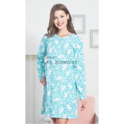 ddfa1cb8bf0 Vienetta Secret Lední medvědi dámská noční košile s dlouhým rukávem azurová