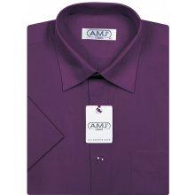 AMJ Classic pánská košile Dlouhý rukáv - tmavě fialová