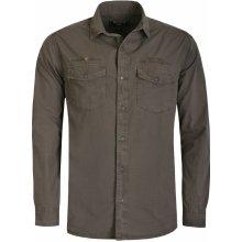 4eea98d6eff Bushman Pánská Košile Gent tmavě hnědá