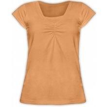 Klaudie kojící tričko vsadka KR sv. oranžová