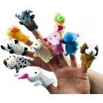 TFY Am52 sada maňásků na prsty zvířátka 10 ks