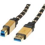 Roline 11.02.8903 Gold USB 3.0 SuperSpeed kabel USB3.0 A(M) - USB3.0 B(M), 3m