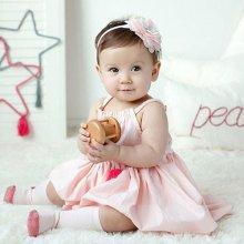 Beyou Čelenka pro miminka s květinou růžová