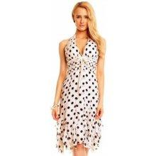 f1cda9f1722 Dámské společenské šaty bez rukávu Michele bílá