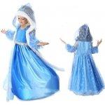Kostým / šaty Frozen Elsa Ledové království s kapucí 3 dílný set