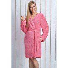 L&L dámsky župan s kapucí Alba pink