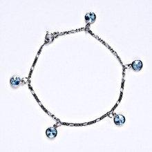 Swarovski krystaly akvamarin, kolečka, R 1336