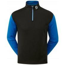 FootJoy Lambswool V-Neck Pullover Black/Cobalt