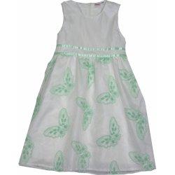 Topo Dívčí společenské šaty bílo zelené od 549 Kč - Heureka.cz 5b60e11fb1
