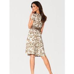 Ashley Brooke by heine formující květinové šaty bílá hnědo šedá ... fc8fee7bb0