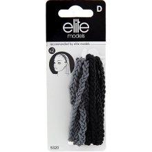 Čelenky copánkové 2ks Elite Models 2ks, textilní, šedá/černá