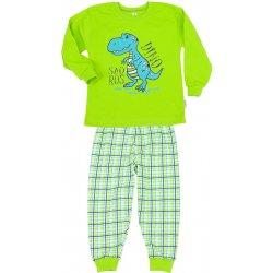 5293473717 Betty mode Chlapecké pyžamo HODNÝ DINOSAURUS limetková od 285 Kč ...