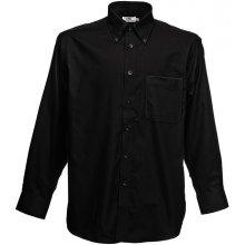 Pánská košile Oxford dlouhý rukáv Černá Fruit of the Loom 65-114-0 88557fb659