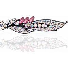 Fashion Icon Spona do vlasů List s krystaly SV0036-36 06877f1b34