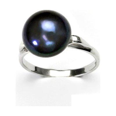 ČIŠTÍN Stříbrný prstýnek, přírodní perla černá 11-, prsten ze stříbra, T 1510 3716