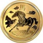 Lunární Zlatá mince Year of the Horse Rok Koně 2014 1 Oz