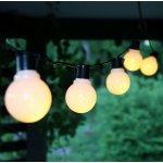 STAR TRADING Světelný LED řetěz White bulbs - 16 žárovek, bílá barva, plast