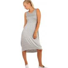 Dlouhé letní šaty s proužky 241158 šedá 06e512c825