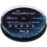 MediaRange BD-R 25GB 4x, cakebox, 10ks (MR495)