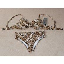 H. Nathalie plavky/bikini push-up leopard