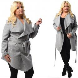 b2c130db105 Fashionweek Módní dámský kabát Waterfall Maxi Plus Size P02 šedá ...