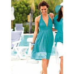 Dámské šaty Šifonovo-saténové šaty v tyrkysové Laura Scott 3f8d2ecc6d