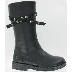 0b06b4bf5fd Dětská bota Primigi Dívčí kozačky - černé