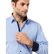 Světle modrá kostičkovaná košile Vincenzo Boretti ac736e47e0
